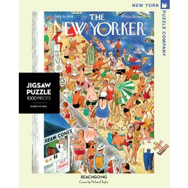The New York Puzzle Company | The New Yorker Beach Going 1000pc Jigsaw Puzzle