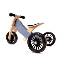 Kinderfeets Tiny Tot PLUS 2 in 1 Tricycle & Balance Bike | SLATE BLUE