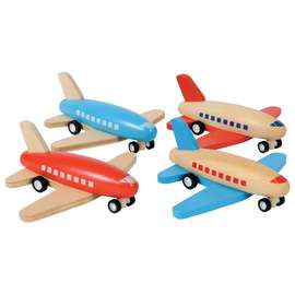 Tiger Tribe Wooden Pull-Back Aeroplane