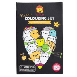 Tiger Tribe Neon Colouring Set - Glow Friends