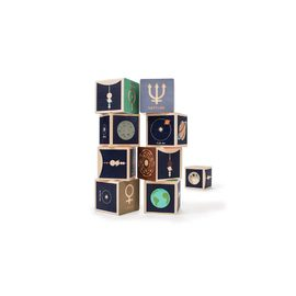 Uncle Goose Planet Blocks - 9 Pce Wooden Block Set
