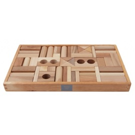Wooden Story Natural Blocks | 54pc Natural Wooden Blocks In a Tray