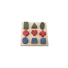 Wooden Story Rainbow Shape Puzzle Board