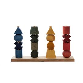 Wooden Story Rainbow Stacking Toy XL | 16 Piece Eco Friendly Wooden Stacking Toy
