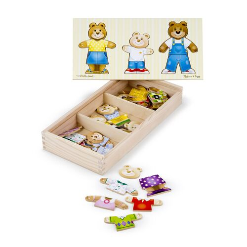 Melissa & Doug - Bear Family Dress-Up Puzzle